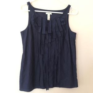 J crew tank top Sz 4 cami navy blue